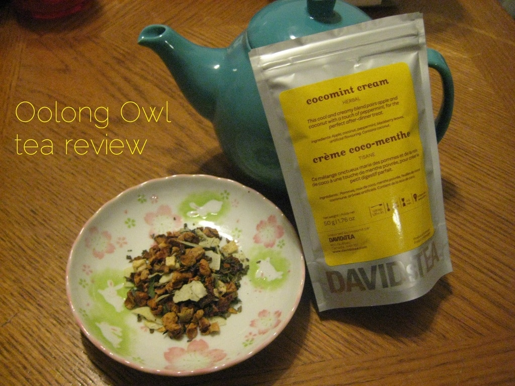 cocomint cream by davidstea - oolong owl tea review