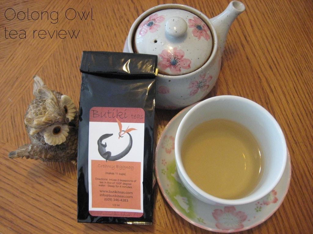 Creamy Eggnog - Butiki Teas - Oolong Owl Tea review
