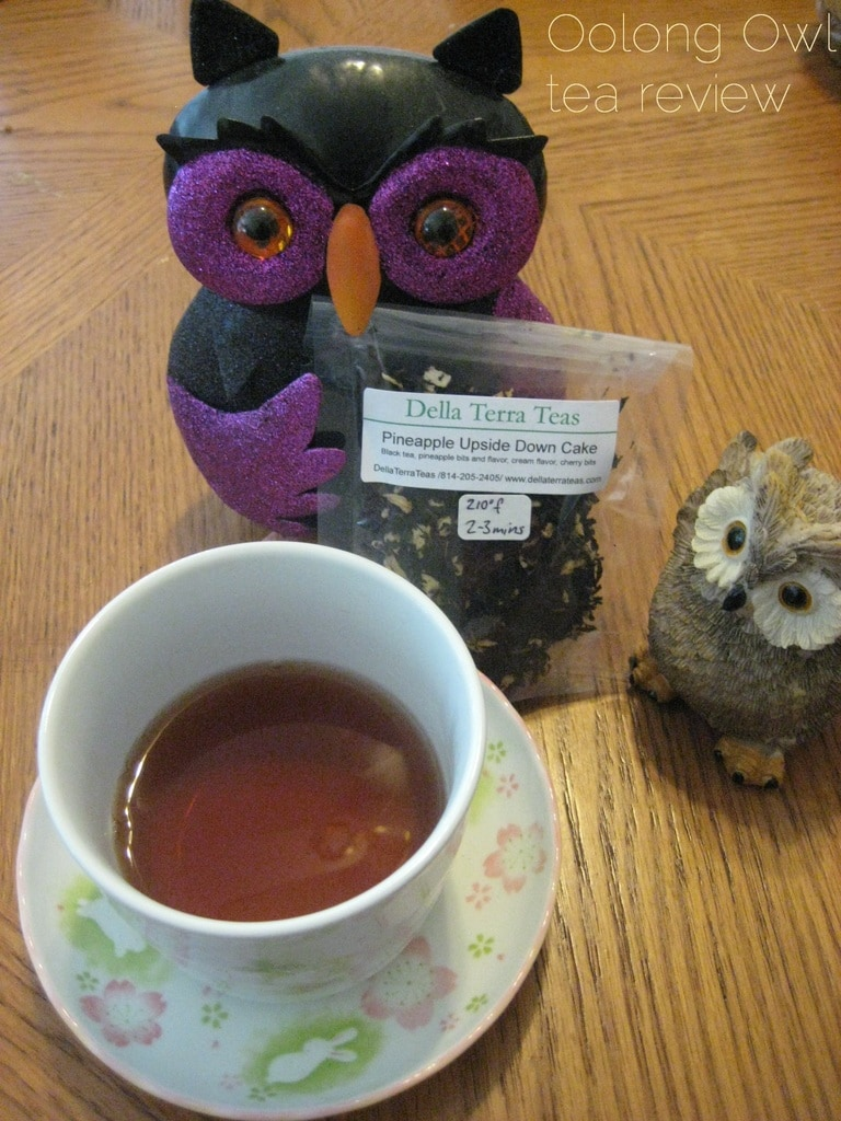 pineapple upside down cake - della terra - oolong owl tea review
