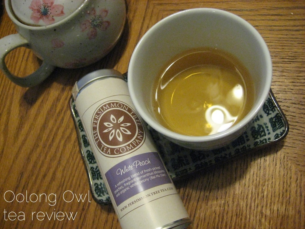 white peach from the persimmon tree - oolong owl tea review