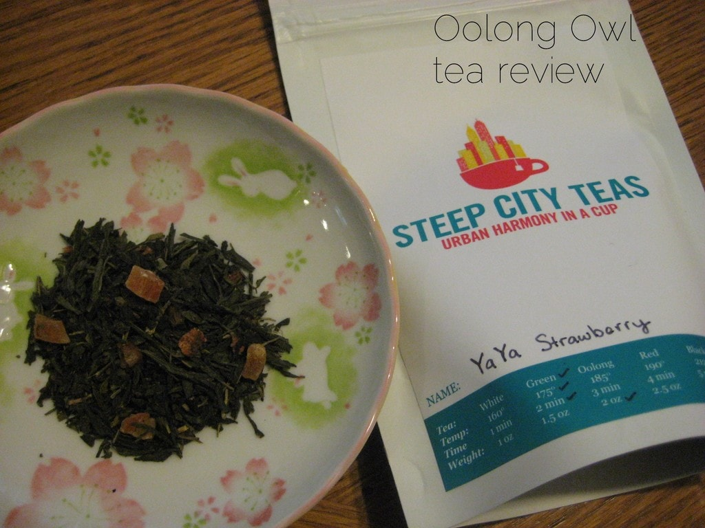 YaYa Strawberry from SteepCityTeas - Oolong Owl tea review