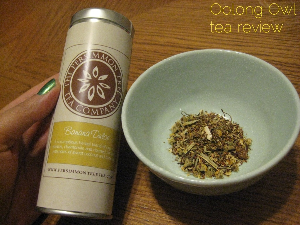 Banana Coconut from The Persimmon Tree - Oolong Owl tea review (1)