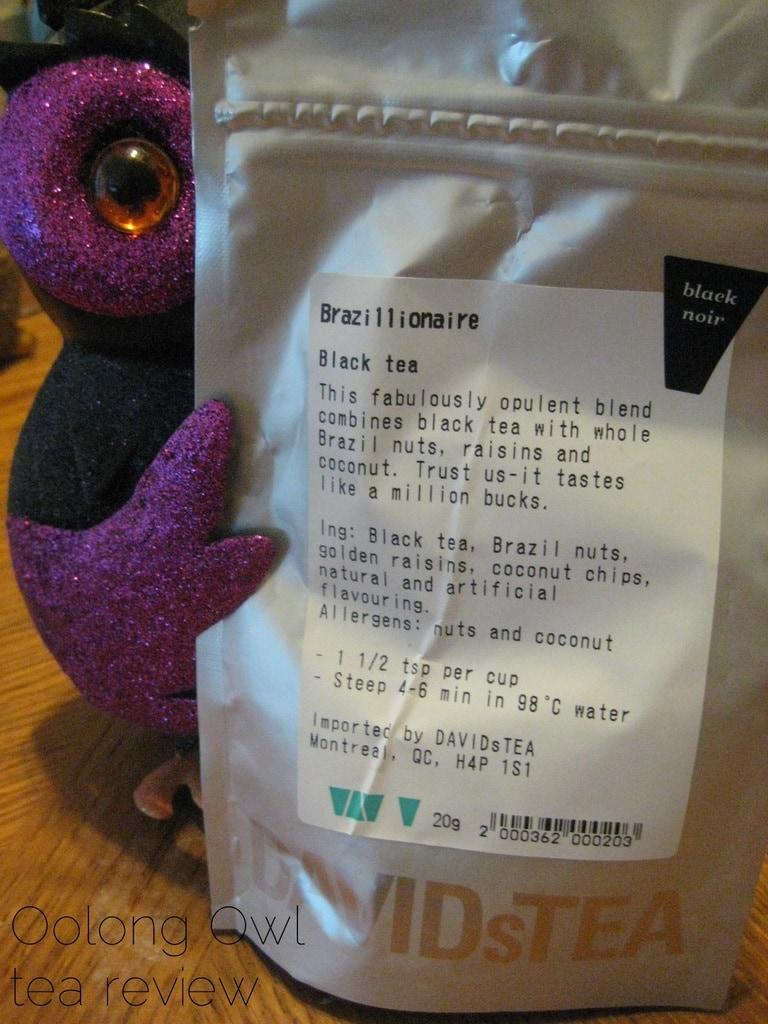 Brazillionaire from DavidsTEA - Oolong Owl Tea review (2)