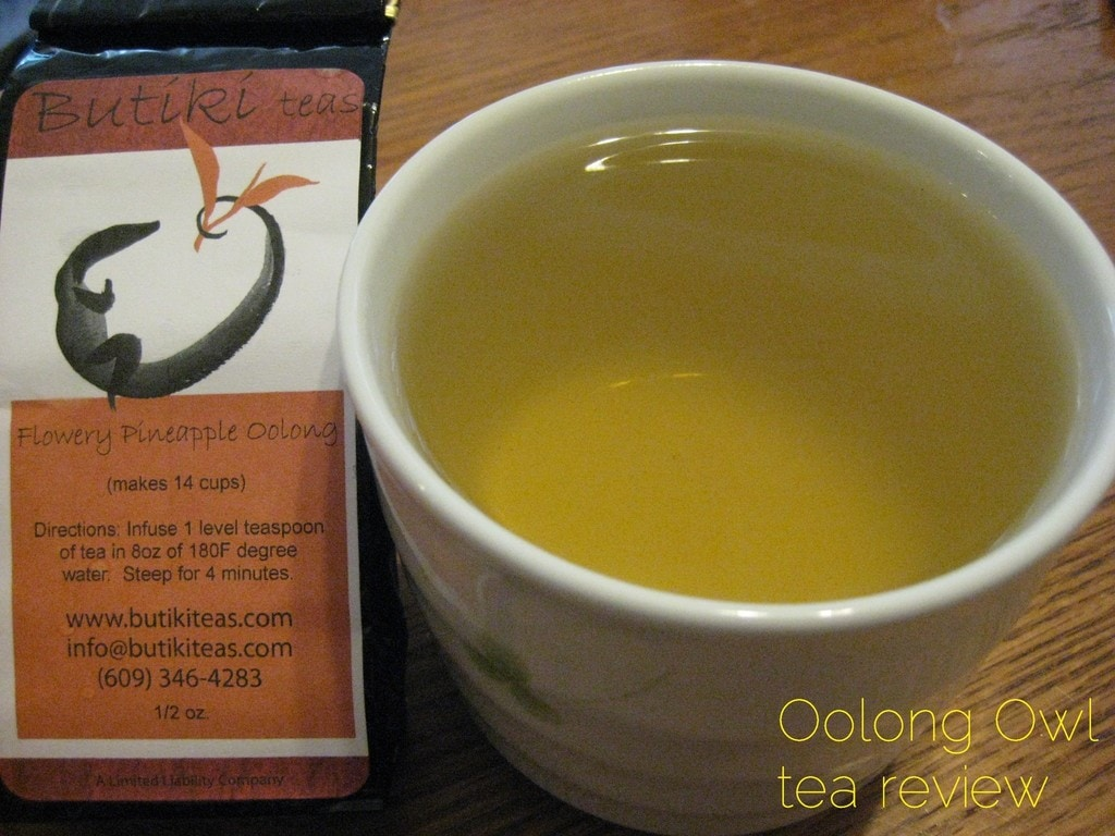 Flowery Pineapple Oolong from Butiki Teas - Oolong Owl tea review (3)