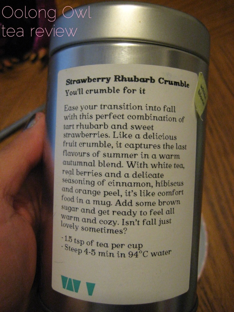 Strawberry Rhubarb Crumble from DavidsTEA - Oolong Owl Tea Review (3)