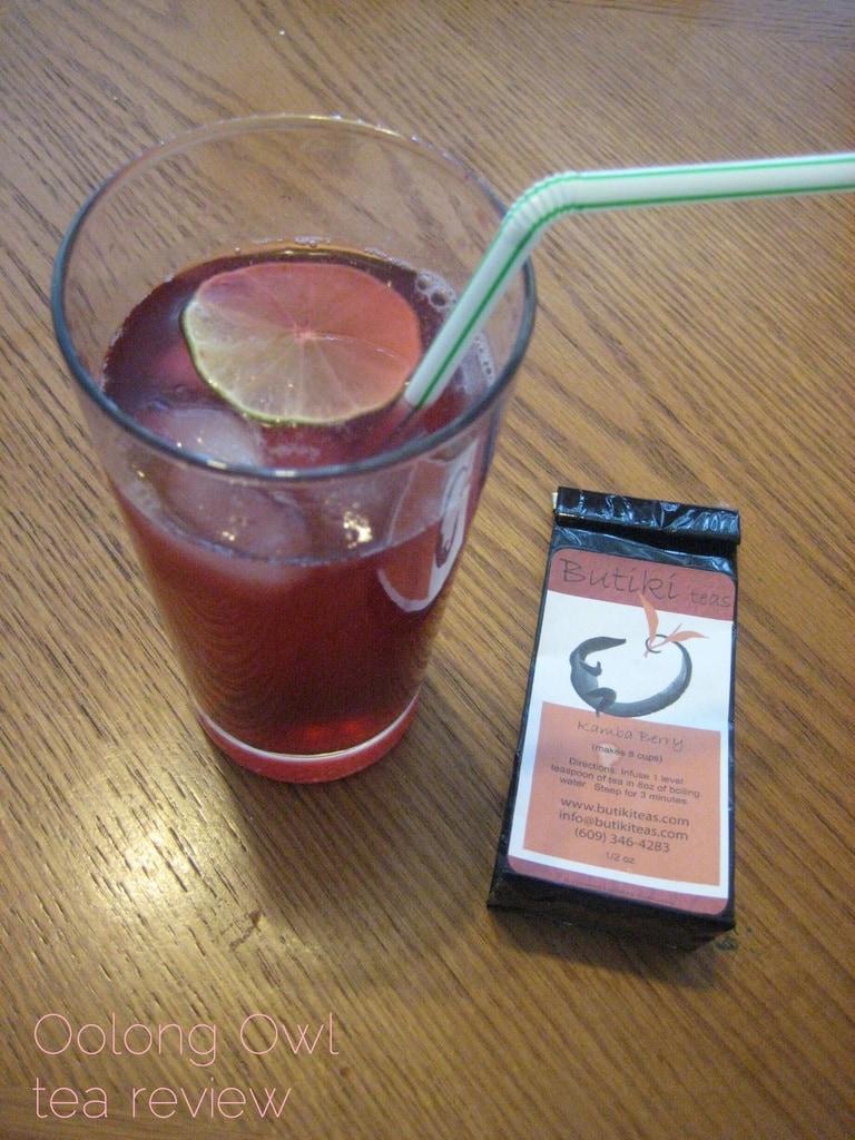 Kamba Berry from Butiki Teas - Oolong Owl tea review - iced