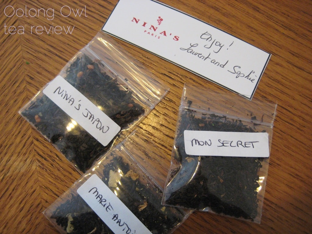 Nina's Paris Samples - Oolong Owl Tea Review