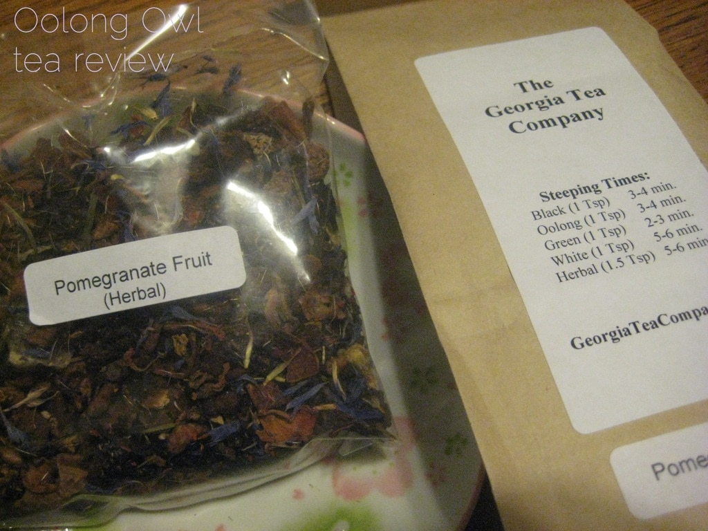 Pomegranate Fruit from Georgia Tea co - Oolong Owl Tea Review (1)