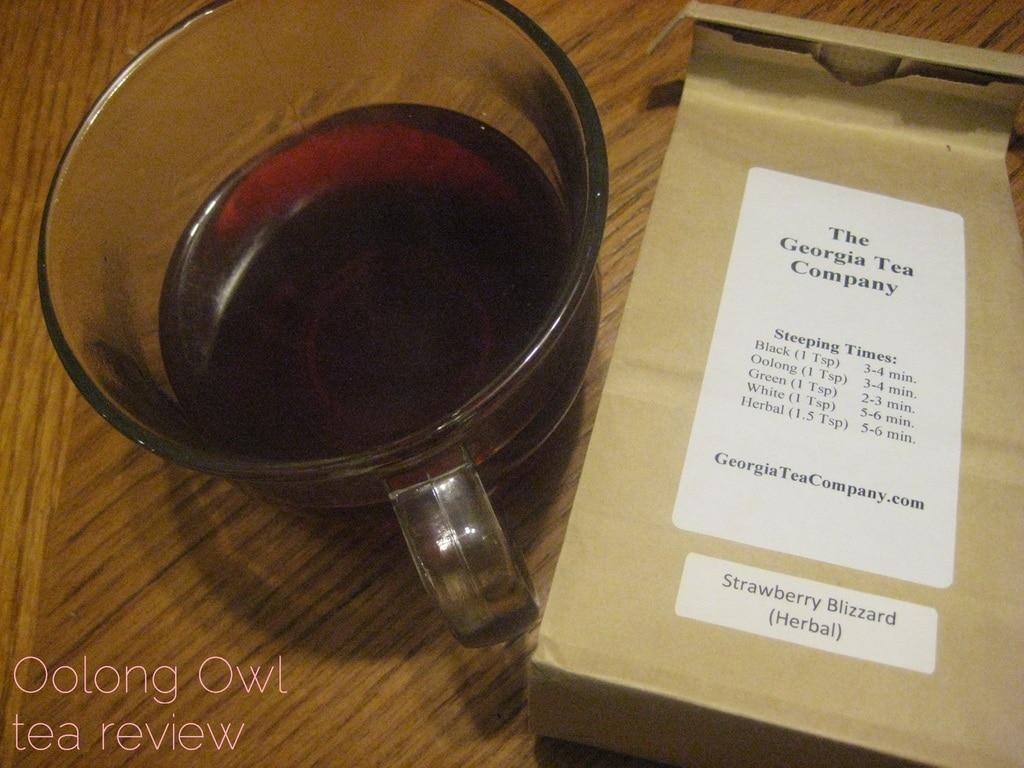 Strawberry Blizzard from Georgia Tea Co - Oolong Owl tea review (5)