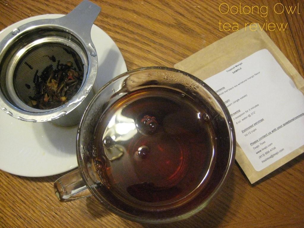 Tropical Mango from TeaJo - Oolong Owl tea review (5)