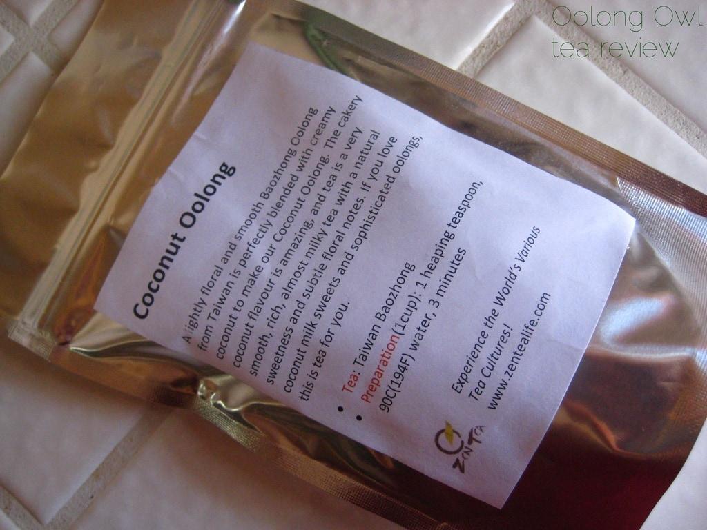 Coconut Oolong from Zen Tea Life - Oolong Owl tea review (1)