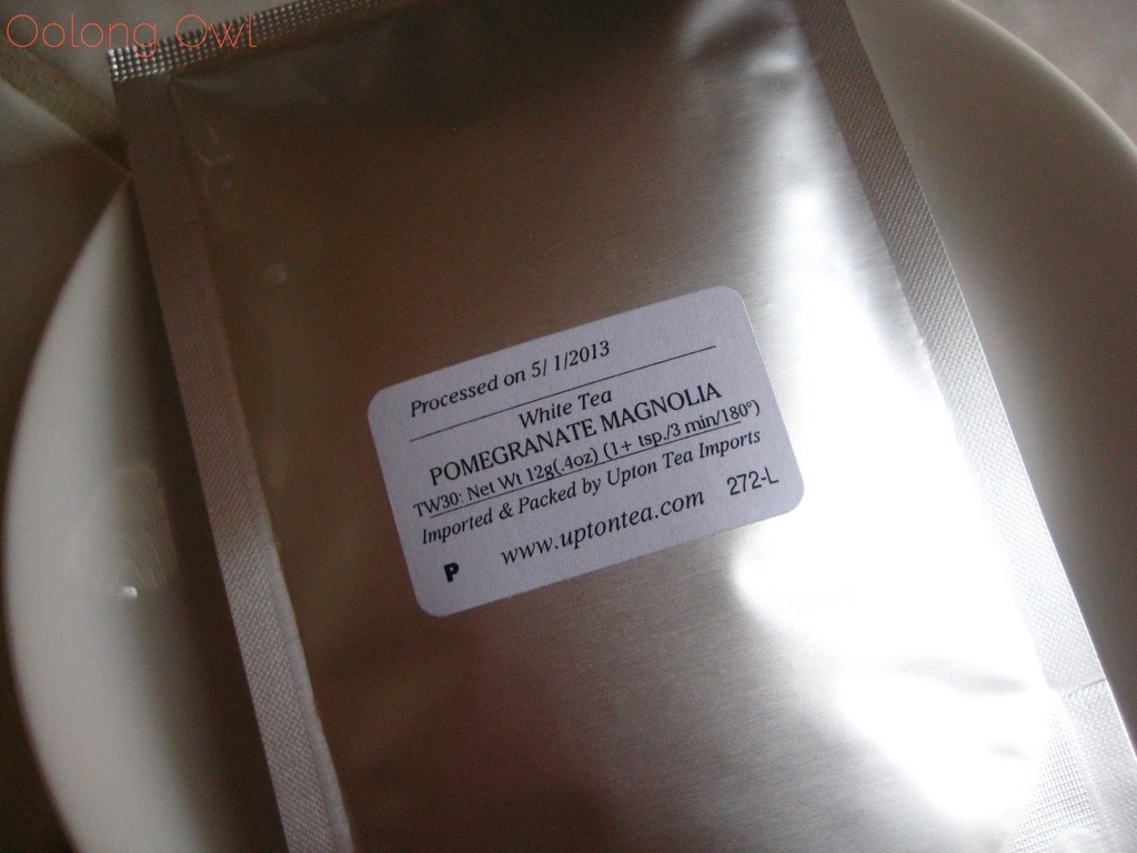 Pomegranate Magnolia White Tea from Upton Tea Imports - Oolong Owl Tea Review (1)