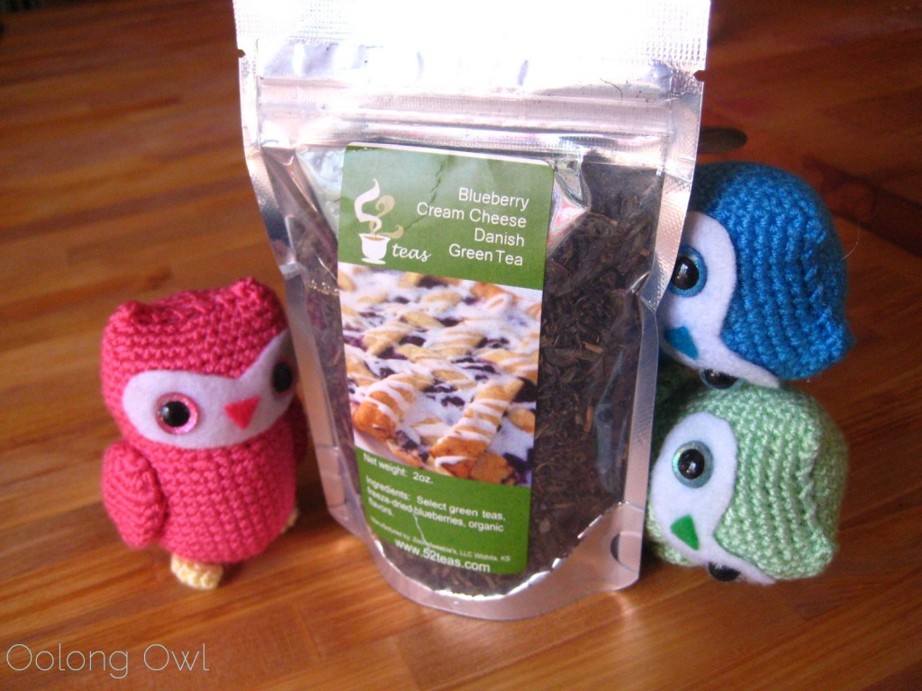 Blueberry Cream Cheese Danish Green Tea from 52 Teas! Oolong Owl!