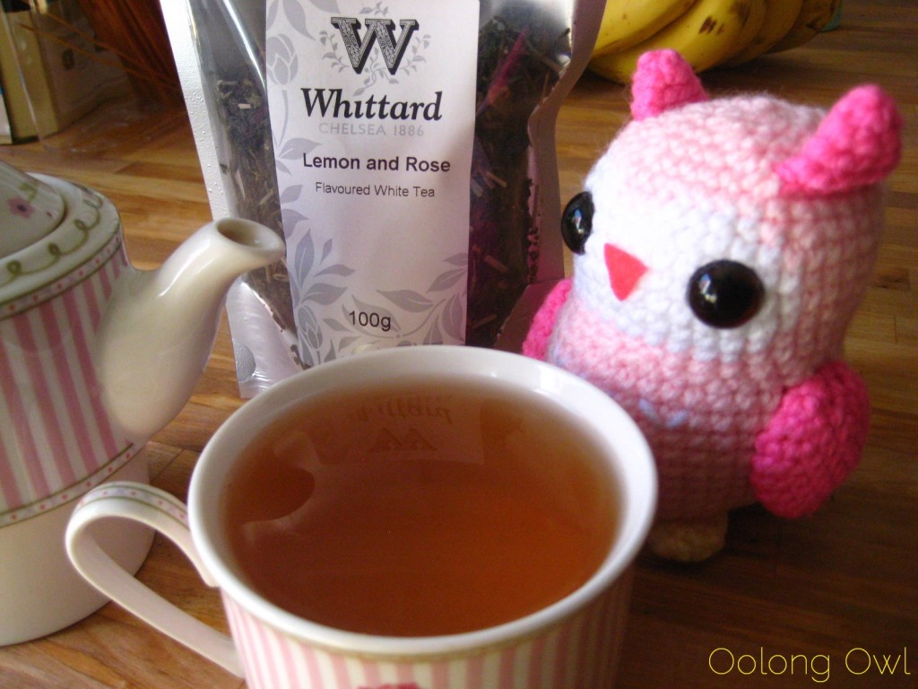 Lemon and Rose White tea from Whittard of Chelsea - Oolong Owl Tea review (5)