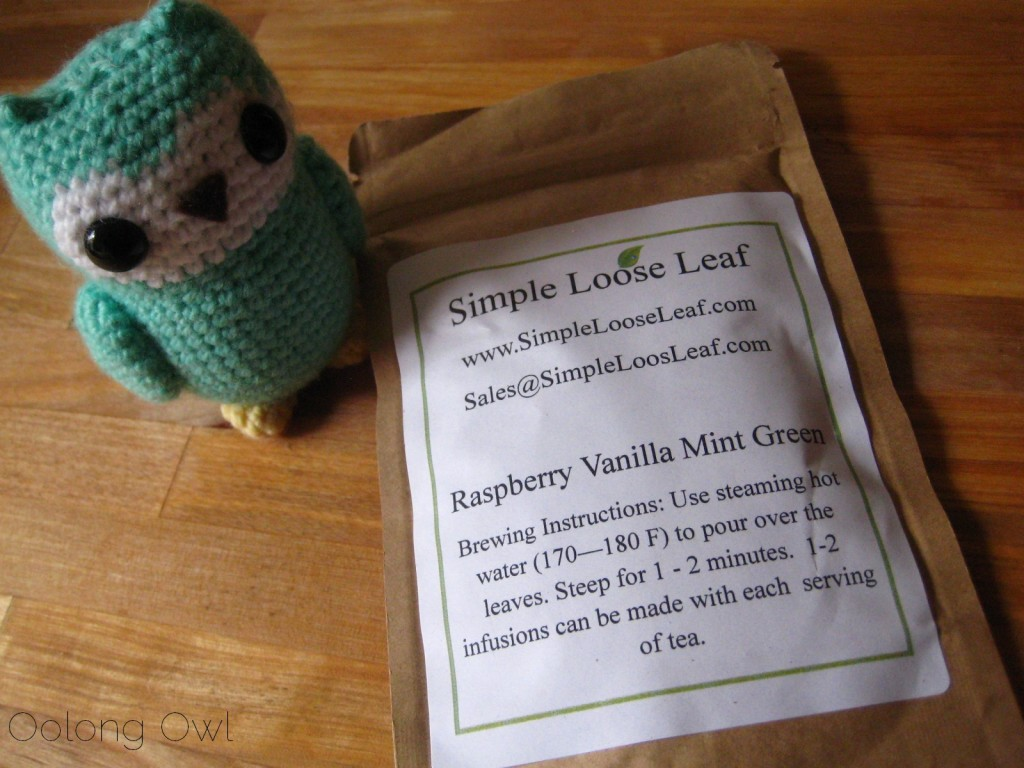 Raspberry Vanilla Mint Green tea from Simple Loose Leaf - Oolong Owl Tea review (1)