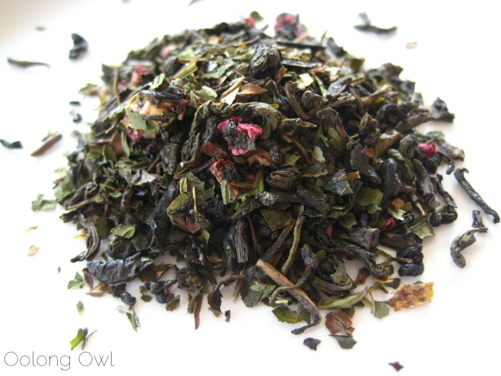 Raspberry Vanilla Mint Green tea from Simple Loose Leaf - Oolong Owl Tea review (2)