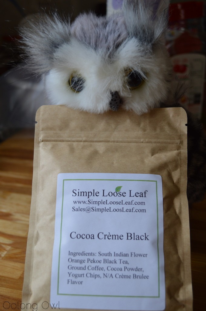 Cocoa Creme Black tea from Simple Loose Leaf - Oolong Owl Tea Review (1)
