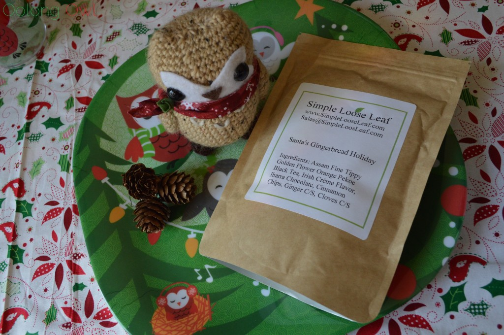 Santas Gingerbread Holiday Tea from Simple Loose Leaf - Oolong Owl Tea Review (2)
