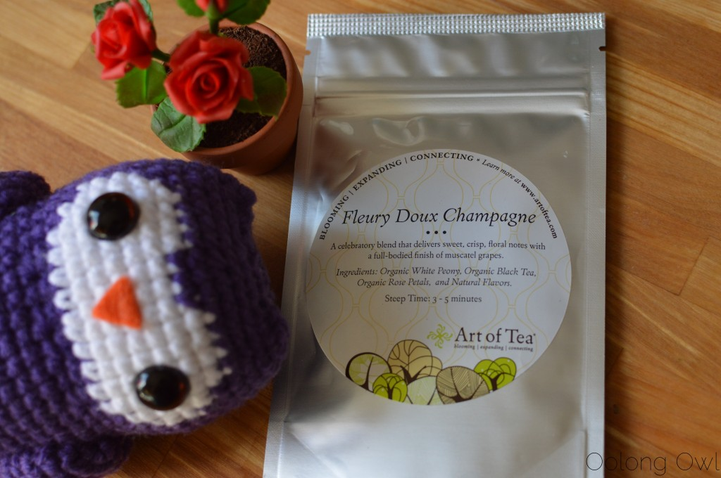 Fleury doux champagne tea from art of tea - oolong owl tea review (1)