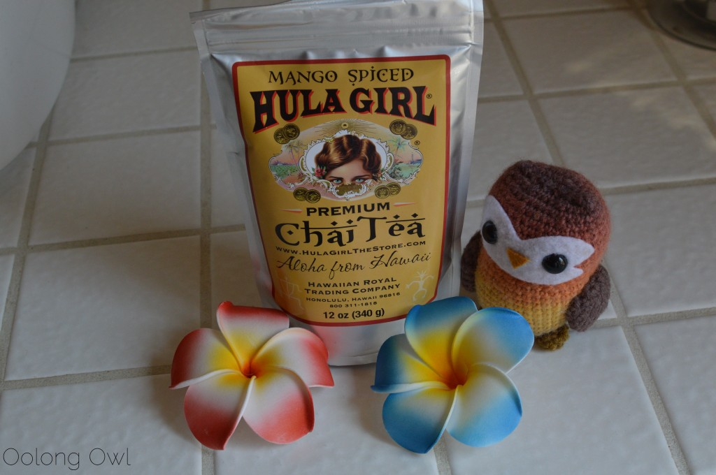 Mango spiced chai tea from hula girl - oolong Owl tea review (1)