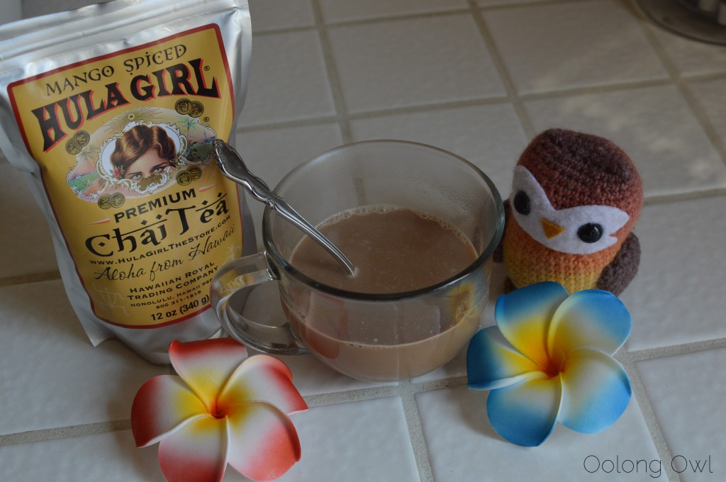 Mango spiced chai tea from hula girl - oolong Owl tea review (4)