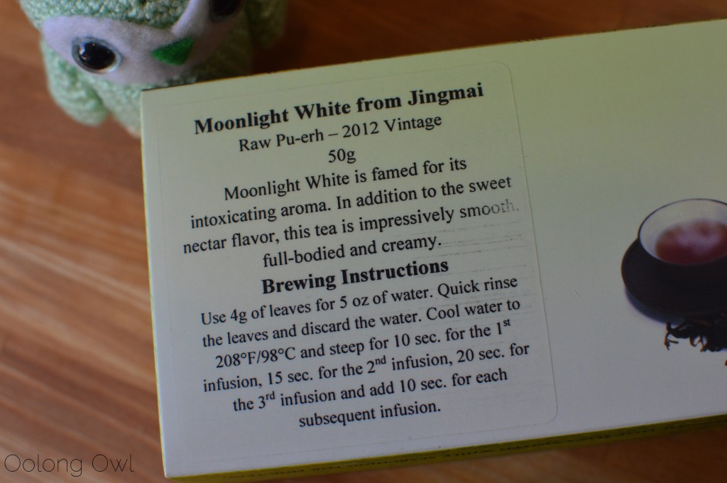 Moonlight white from jingmai puer from bana tea company - oolong owl tea review (2)