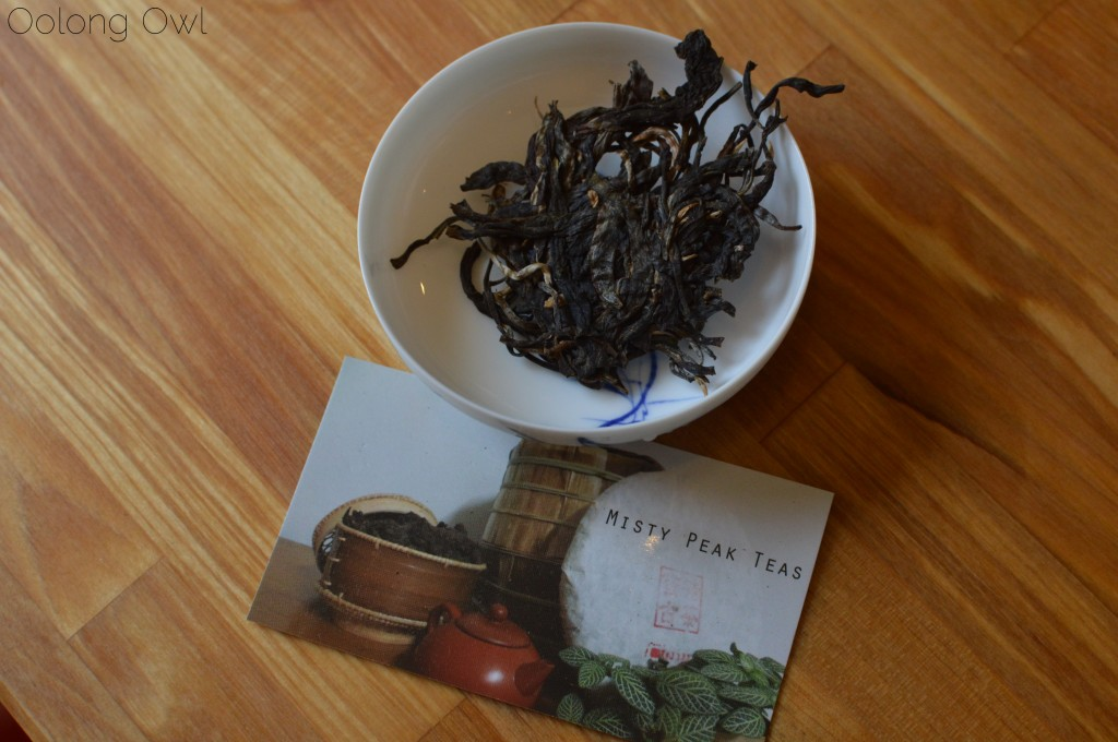 autumn 2014 sheng yiwu mountain puer from Misty peak teas - oolong owl tea review (1)