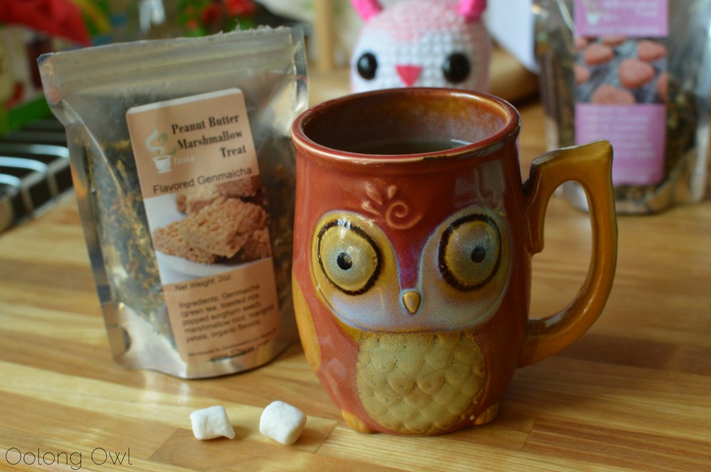marshmallow treat genmaicha from 52 teas - oolong owl tea review (12)