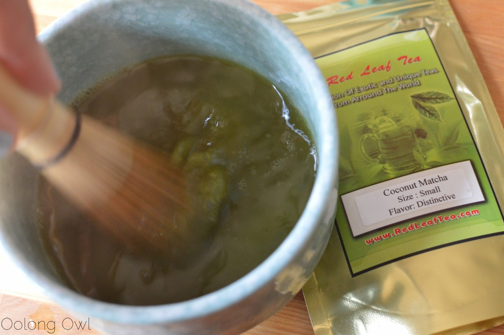Coconut matcha from red leaf tea - oolong owl tea review (5)