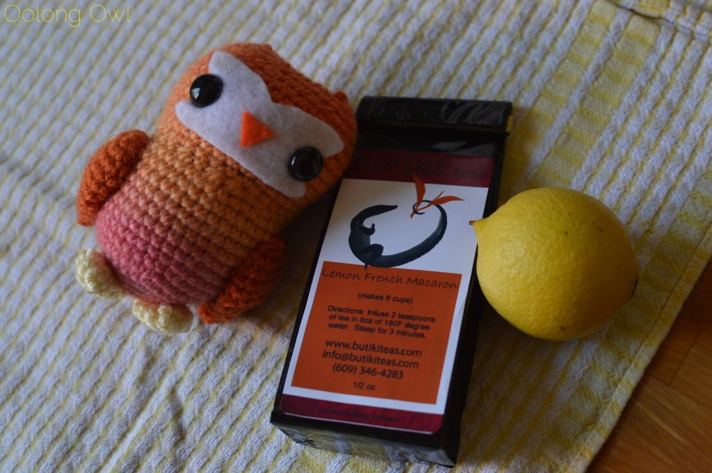 Lemon French Macaron white tea from butiki teas - oolong owl tea review (1)