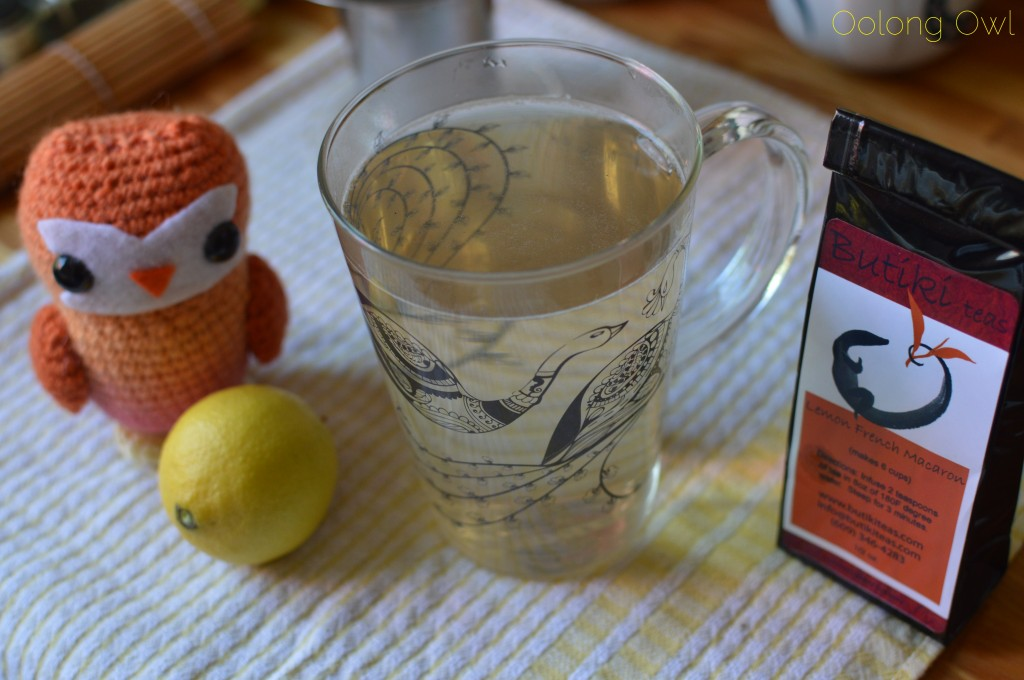 Lemon French Macaron white tea from butiki teas - oolong owl tea review (5)