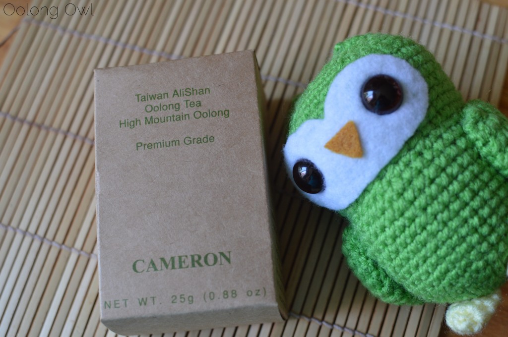 taiwan alishan high mountain oolong from cameron tea - oolong owl tea review (1)