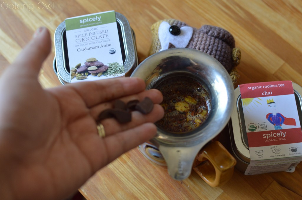 spicely tea infused chocolates and chai rooibos - oolong owl tea review (11)