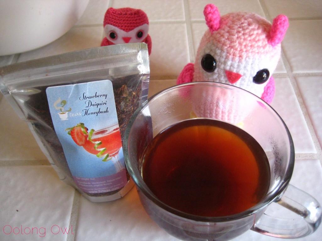 Strawberry Daiquiri Honeybush from 52 Teas - Oolong Owl Tea Review (7)