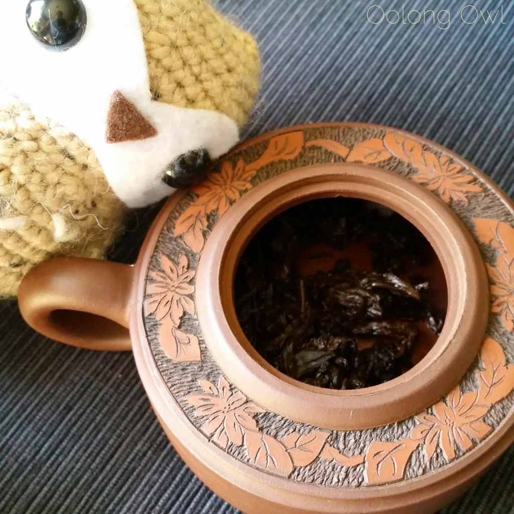 2012 bulang gushu crimson lotus tea oolong owl