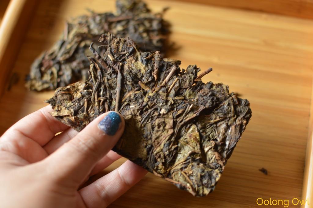 2004 big leaf yiwu gushu raw puer - mandala tea - oolong owl