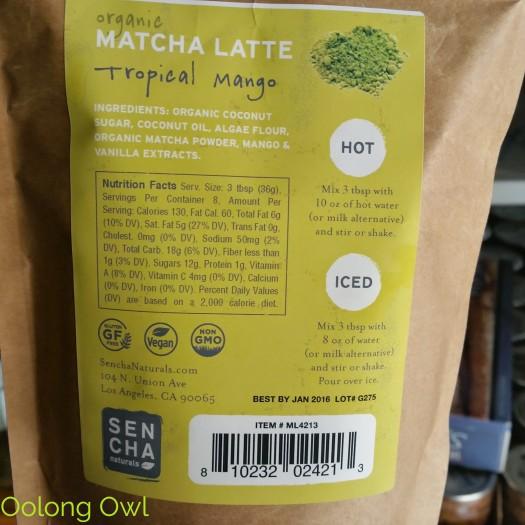 Sencha Naturals - Tropical Mango Green Tea Latte Mix - Oolong Owl Tea Review (2)