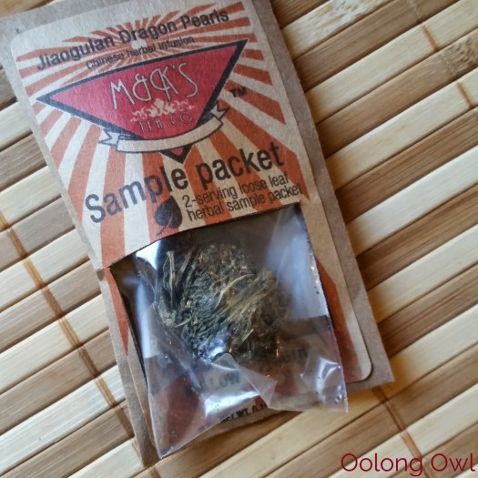 Roasted Jiaogulan dragon pearls form MK tea co - Oolong Owl Tea Review (1)