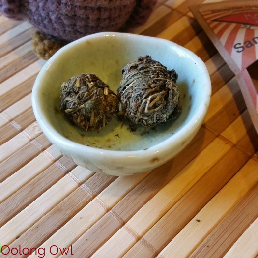 Roasted Jiaogulan dragon pearls form MK tea co - Oolong Owl Tea Review (2)