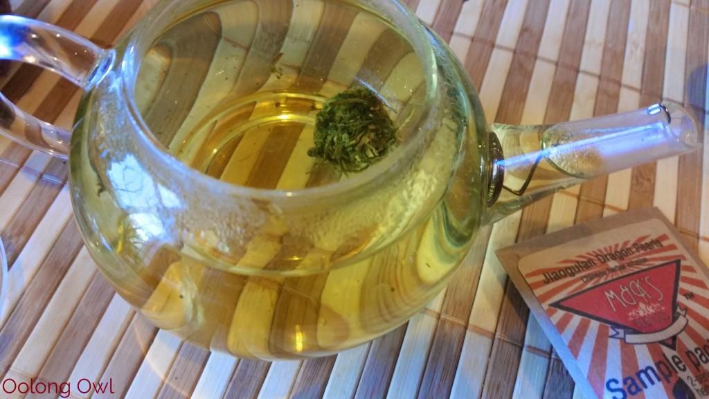 Roasted Jiaogulan dragon pearls form MK tea co - Oolong Owl Tea Review (3)