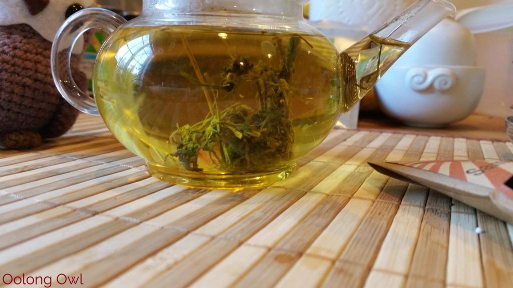 Roasted Jiaogulan dragon pearls form MK tea co - Oolong Owl Tea Review (4)