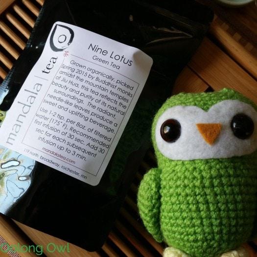 nine lotus green tea from Mandala Tea - Oolong Owl Tea Review (1)