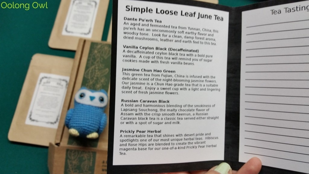 June 2015 Simple Loose Leaf Tea Review - Oolong Owl (2)