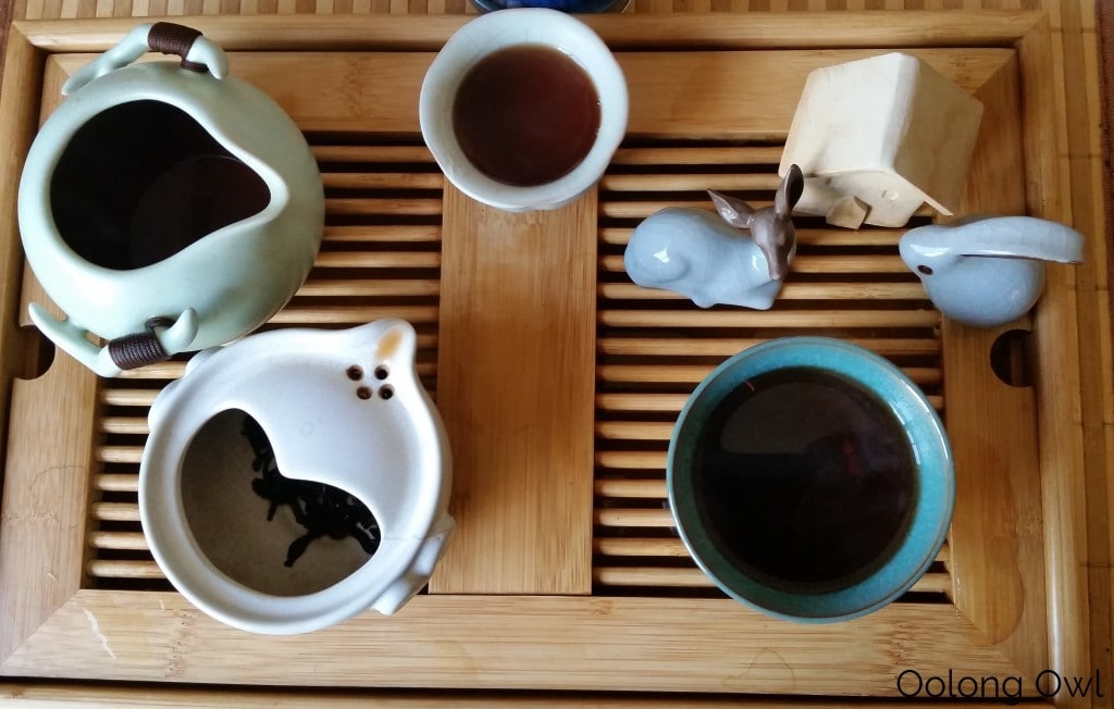 Mandala Tea 2014 Temple Stairs Ripe Puer - Oolong Owl Tea Review (4)