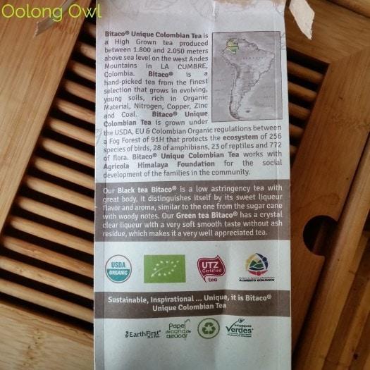 bitaco colombian green tea - oolong owl tea review (3)
