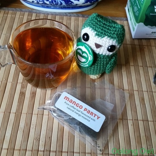 Wize Monkey Coffee Leaf Tea - mango mint - oolong owl (2)