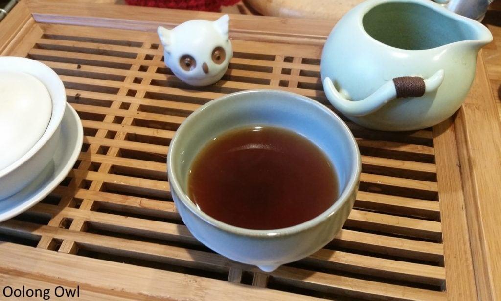 2015 bulang ripe puer mini cake - bana tea company - oolong owl (6)