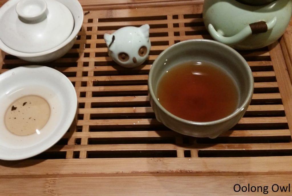 2015 bulang ripe puer mini cake - bana tea company - oolong owl (8)