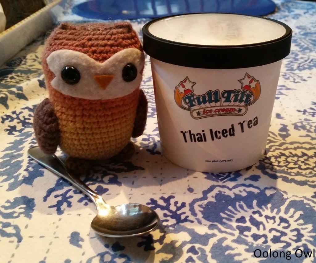 Thai Iced Tea Ice Cream by Full Tilt Ice Cream - Oolong Owl