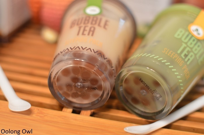 etude house bubble tea sleeping pack - oolong owl (4)